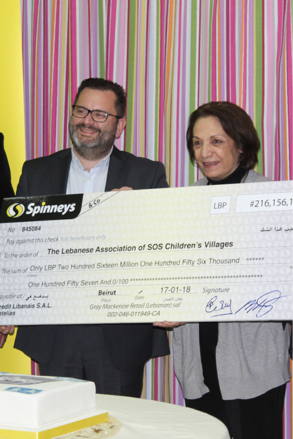 SOS CV Lebanon received more than 200'000'000 LBP from Spinneys